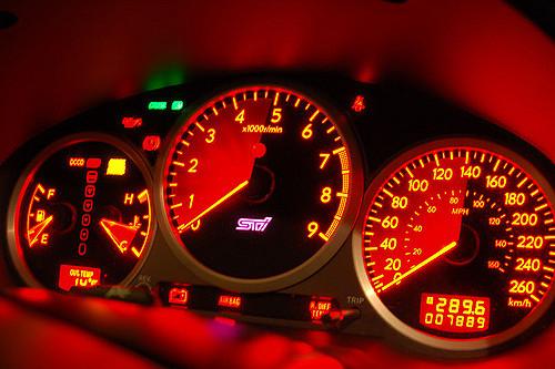Panel de mandos de un coche